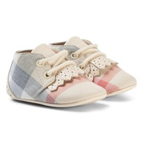 Burberry Cream Tom Lace Up Crib Shoe Cream