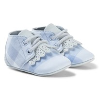 Burberry Light Blue Tom Lace Up Crib Shoe PALE OPAL BLUE