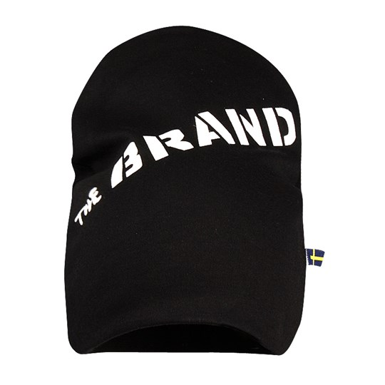 The BRAND Hat Grey Black Logo Black