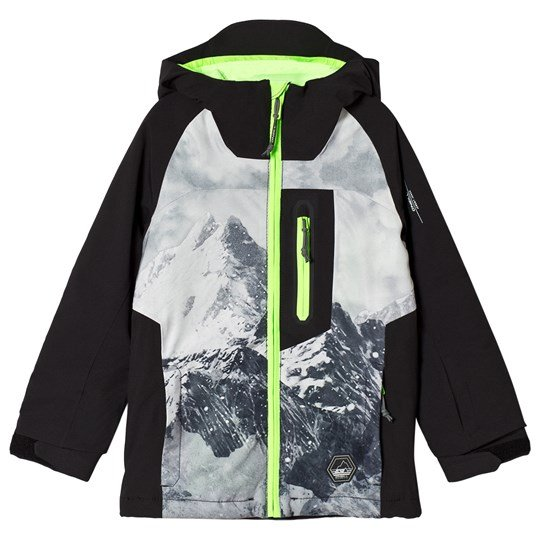 Oneill Black and Yellow Jones Mountain Ski Jacket 9900 BLACK
