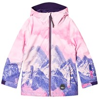 Oneill Pink and Purple Mountain Ski Jacket 4900 PINK