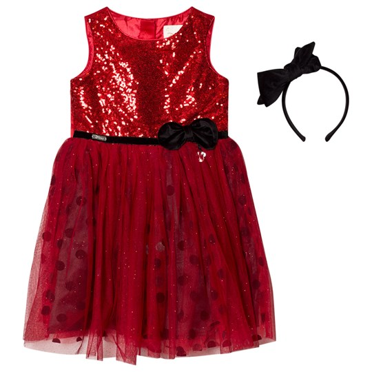 Disney Boutique Minnie Mouse Glitter Sequin Party Dress MINNIE MOUSE