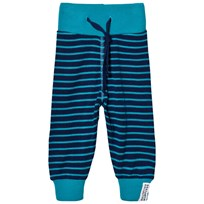 Geggamoja Wool Pants Marine and Turquoise Marine/turq