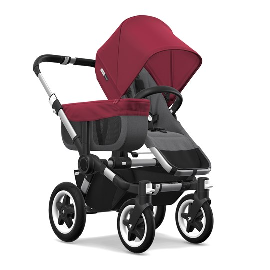 Bugaboo Bugaboo Donkey² Mono Stroller Complete Grey/Red Grey/Red