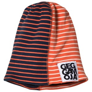 Geggamoja Two Col Cap Fleece Marine/Orange L (Fra 6 år)