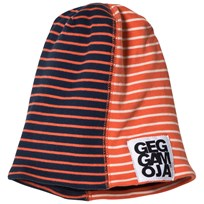 Geggamoja Two Col Cap Fleece Marine/Orange Marine/orange