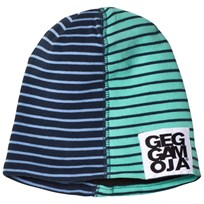 Geggamoja Two Col Cap Fleece Marine/L.Blue Marine/l.blue