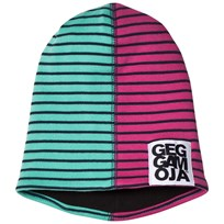 Geggamoja Two Col Cap Fleece Greenturq/Marine Greenturq/marine