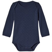 Noa Noa Miniature Baby Body,Long Sleeve DRESS BLUE Dress Blue