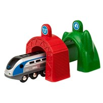 BRIO BRIO World - 33834 Smart Tech lok med action-tunnlar Black