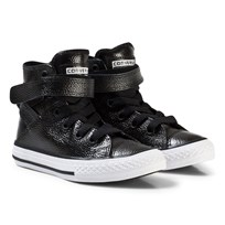 Converse Black Metallic Chuck Taylor All Star Brea Hi Tops BLACK/WHITE/BLACK