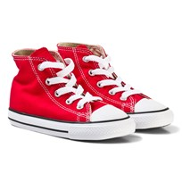 Converse Red Chuck Taylor All Star High Top Trainers Red