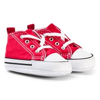 Converse Red Chuck Taylor All Star First Star Crib Shoes Rød