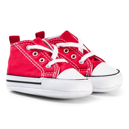 Converse Red Chuck Taylor All Star First Star Crib Shoes Red