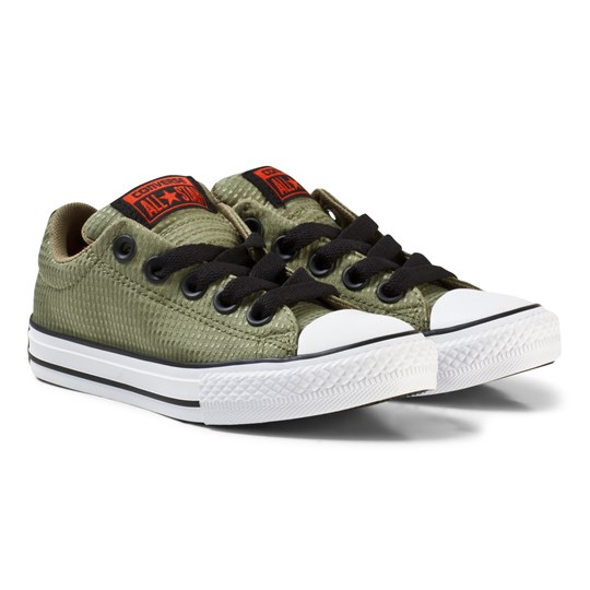 Converse Green Chuck Taylor All Star Street Trainers FATIGUE GREEN/JUTE/WHITE