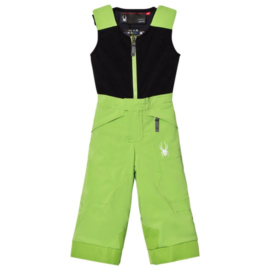 Spyder Green Colour Block Mini Expedition Snow Pants 321 FSH/BLK