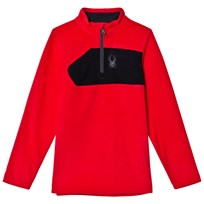 Spyder Red Colour Block Boys Speed Fleece Top 600 RED/BLK