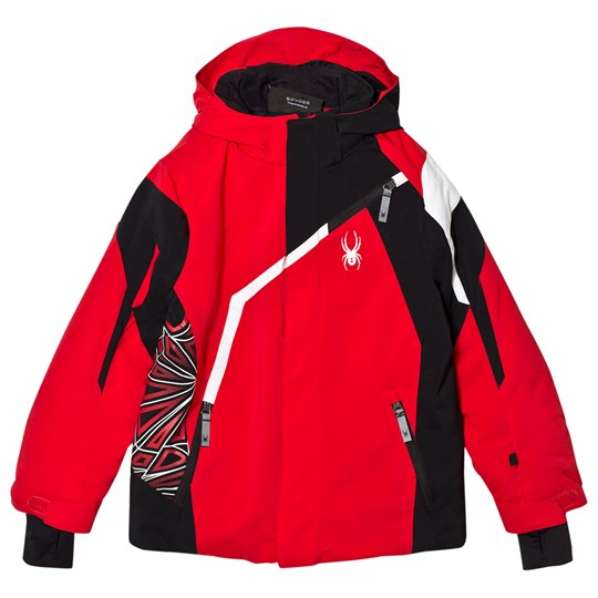 Spyder Red Colour Block Challenger Ski Jacket 600 RED/BLK/WHT