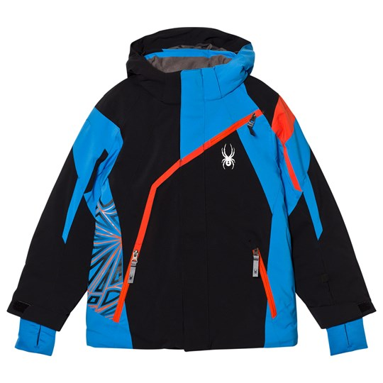 Spyder Blue Colour Block Challenger Ski Jacket 001 BLK/FRB/BRS
