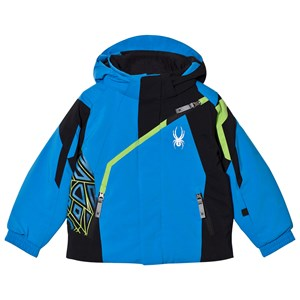 Image of Spyder Blue Color Block Mini Challenger Ski Jacket 2 years (2808735737)