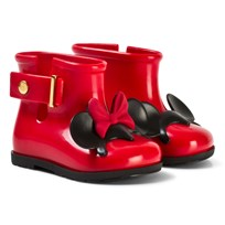 Mini Melissa Red Sugar Rain Minnie and Mickey Rain Boots 50924