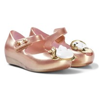 Mini Melissa Rose Gold Pearl and Beauty and the Beast Shoes 19763