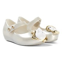 Mini Melissa White Pearl and Beauty and the Beast Shoes 6587
