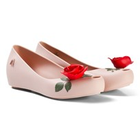 Mini Melissa Pink Rose Beauty and the Beast Detail Shoes 51338
