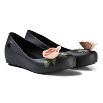 Mini Melissa Black Rose Beauty and the Beast Detail Shoes 51776