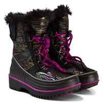 Sorel Children's Tivoli™ II Suede Boots Black, Bright Plum 010