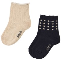 Molo 2-Pack Necky Gold Socks Gold