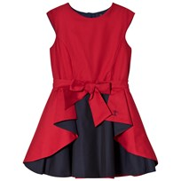 Jessie & James Red and Navy Wavy Dress Punainen