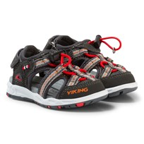 Viking Thrill Sandals Charcoal/Red Black