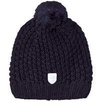 Ticket to heaven Knitted Bobble Hat Navy Blue