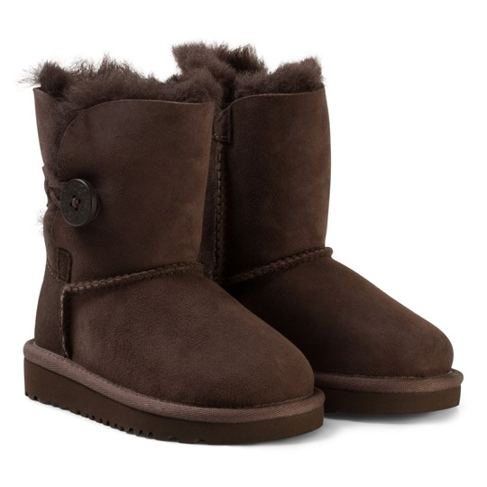 UGG Bailey Button Mid Suede Boots BROWN