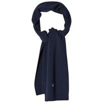 United Colors of Benetton Wool Knit Scarf Navy Laivastonsininen