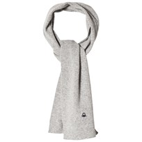 United Colors of Benetton Wool Knit Scraf Light Grey Light Grey