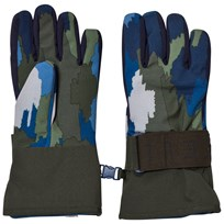 Stella McCartney Kids Navy Camo Shredder Ski Gloves 2864