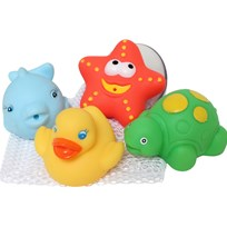 Playgro Bath Squirtees with Storage Set Multi