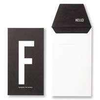Design Letters AJ Greeting Card F Black