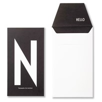Design Letters Personal Greeting Card - N Hvid