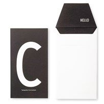 Design Letters AJ Greeting Card C Hvit