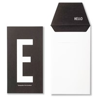 Design Letters AJ Greeting Card E Hvit