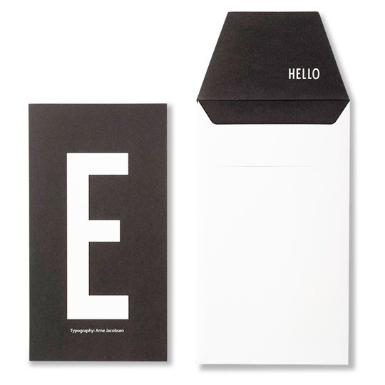 Design Letters Personal Greeting Card - E White
