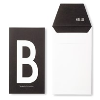 Design Letters AJ Greeting Card B Hvit