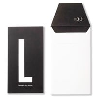 Design Letters Personal Greeting Card - L