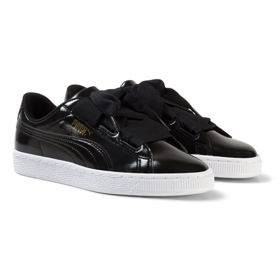 5e079fc7c46b67 Puma - Basket Heart Glam Jr Black - Babyshop.com