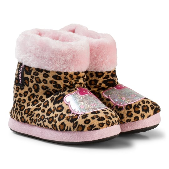 Hello Kitty Slippers Leopard пестрый
