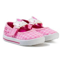 Hello Kitty Ballerina Velcro Sneakers Pink