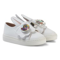 Minna Parikka White Bunny Ear Mini Gemstone Features Sneakers White